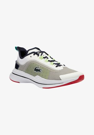 Zapatillas - white, neon yellow, red