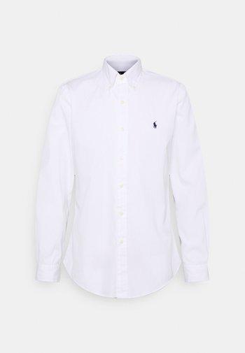 CUSTOM FIT PAINT-SPLATTER POPLIN SHIRT - Shirt - white