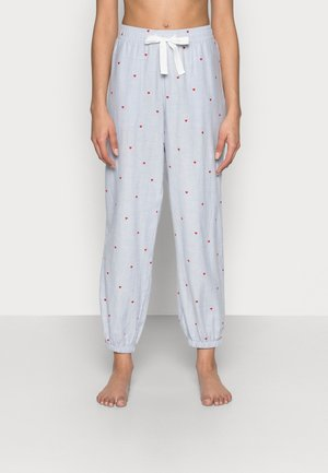 Pyjamabroek - light blue/white