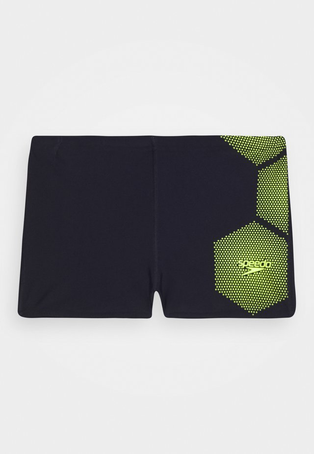 TECH PLACEMENT AQUA - Swimming trunks - true navy/fluorecent yellow