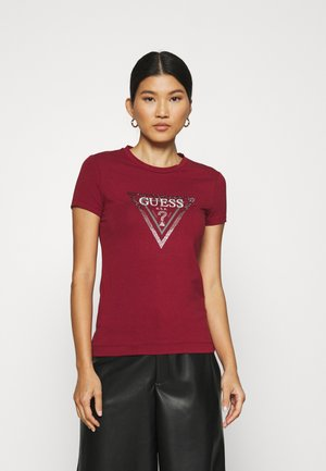 AMALUR TEE - T-shirt imprimé - ruby merlot