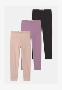 Cotton On - HUGGIE 3 PACK - Legging - black/chalky mauve/crystal pink - 0