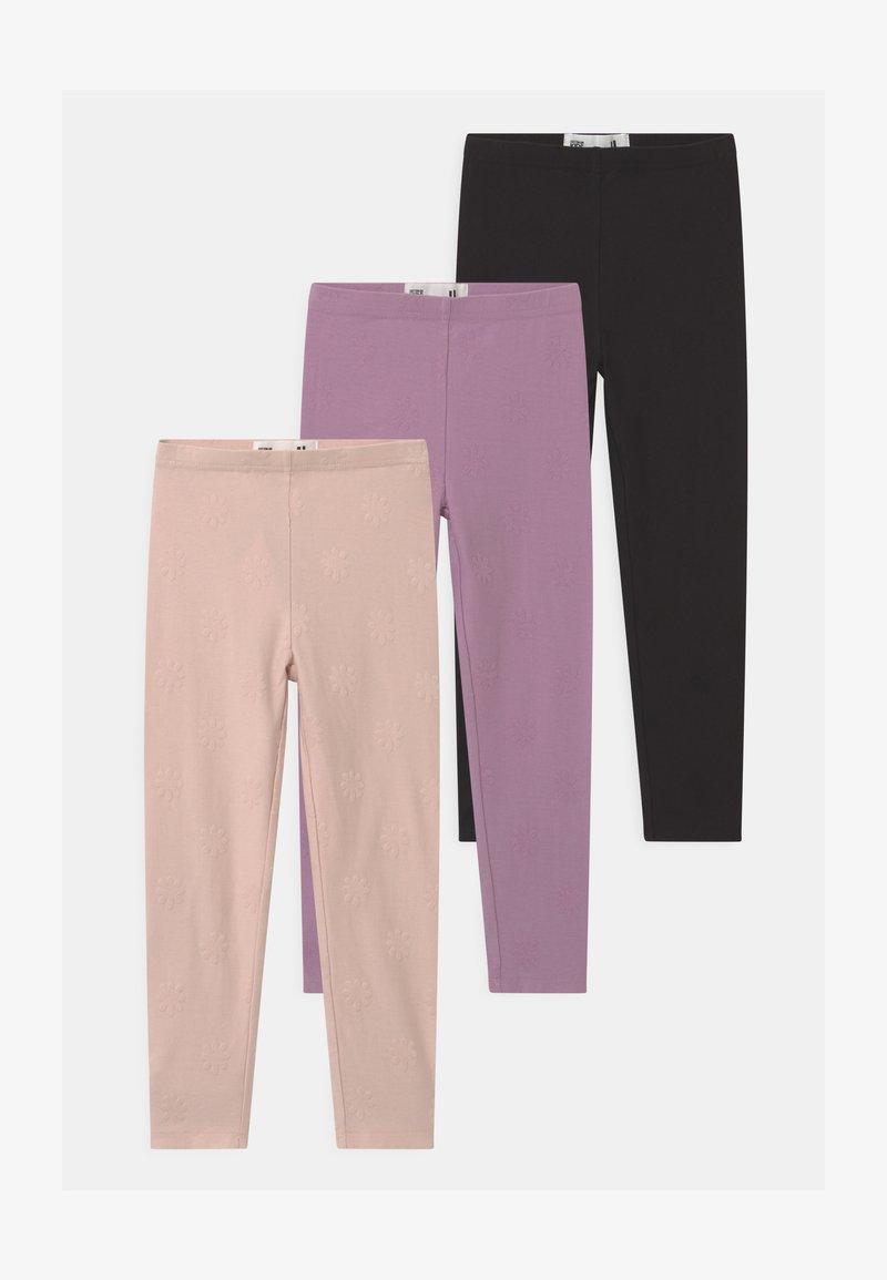 Cotton On - HUGGIE 3 PACK - Legging - black/chalky mauve/crystal pink