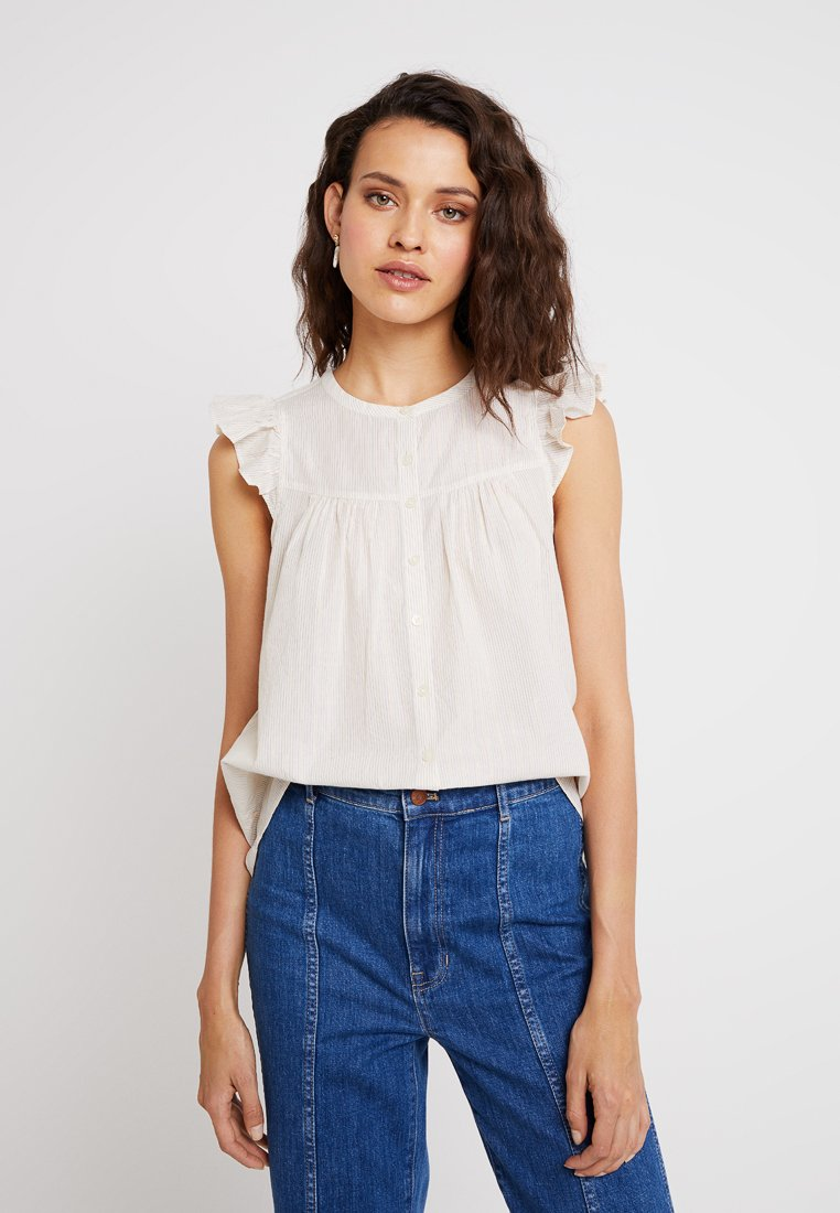 Madewell - BUTTON DOWN FLUTTER SLEEVE - Blouse - off-white