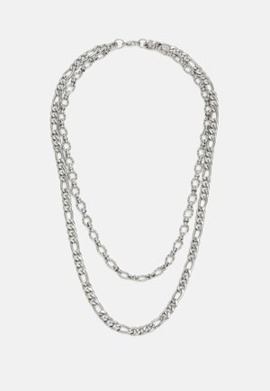 MIXED CHAIN ROW UNISEX - Necklace - silver-coloured