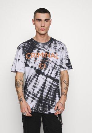 SIMPLE TYPE TIE DYE TEE - Print T-shirt - black