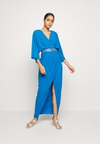 TFNC - LENNIS MAXI WRAP DRESS - Abito da sera - blue - 1