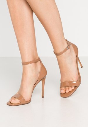 REEVES - High heeled sandals - camel