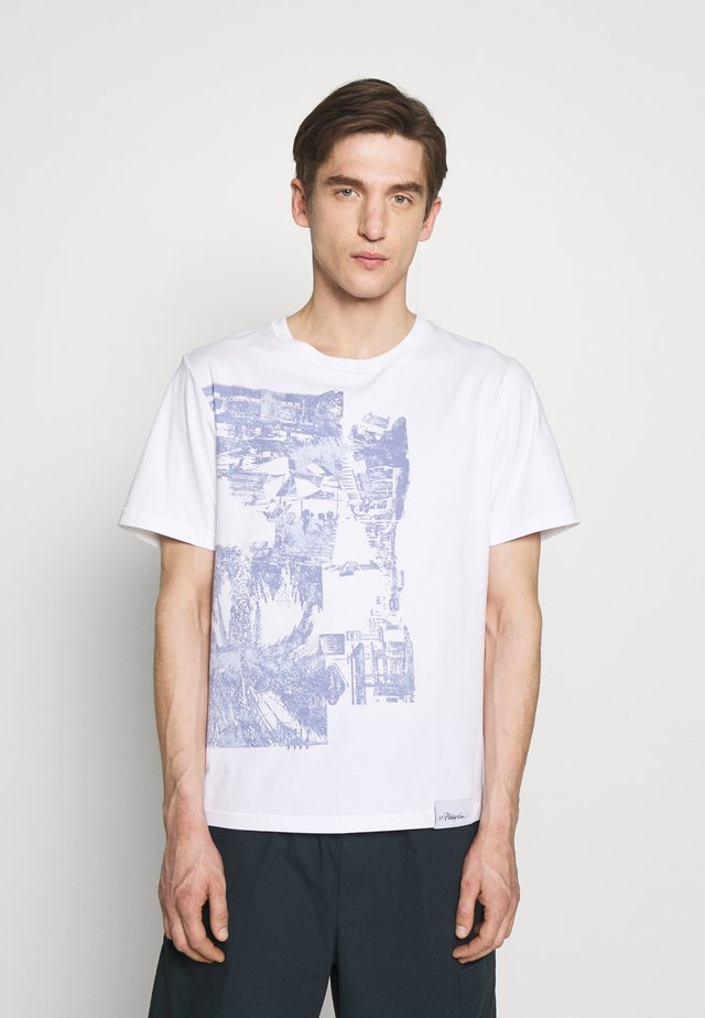 POSTCARD PERFECT TEE - Printtipaita - white