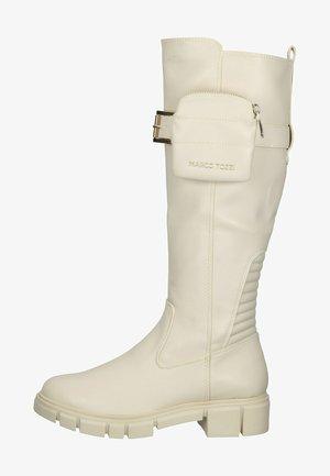 Platform boots - cream