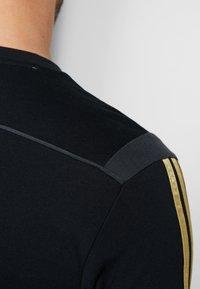 adidas Performance - REAL MADRID TEE - Club wear - black/gold - 4