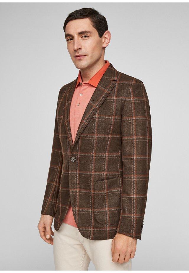 blazer - brown check