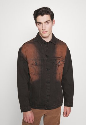 SAND BLAST EFFECT JACKET - Denim jacket - black