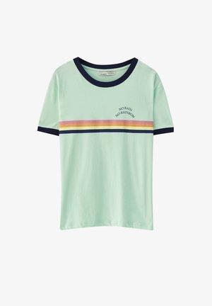 T-shirt imprimé - mottled light green