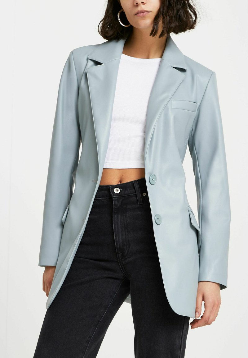 River Island - Faux leather jacket - green