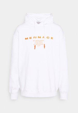 BURNING HOODIE UNISEX - Sweatshirt - white