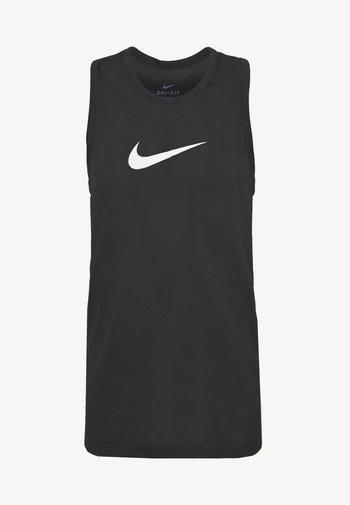 DRY CROSSOVER - T-shirt sportiva - black/white