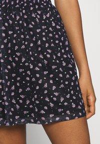 Even&Odd - A-line skirt - black/lilac - 4