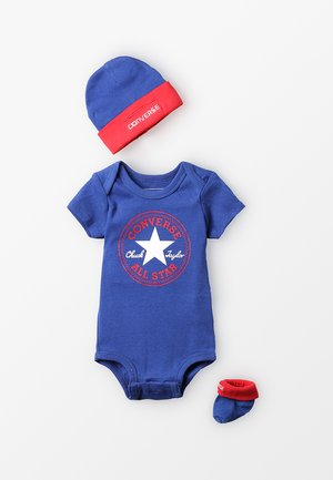 BABY HAT BOOTIE & ROMPER GIFT SET - Dárky pro nejmenší - blue