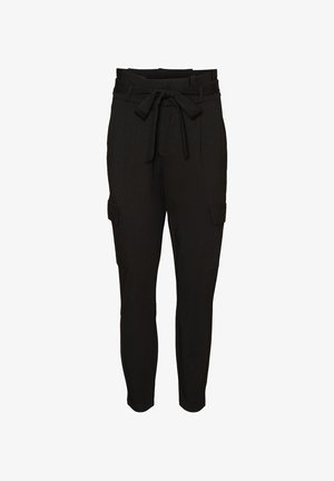 CARGOHOSE PAPERBAG - Pantalones cargo - black