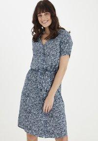 Fransa - Day dress - cashmere blue mix - 0