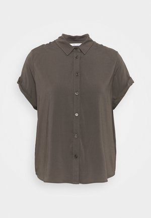 MAJAN - Button-down blouse - black olive