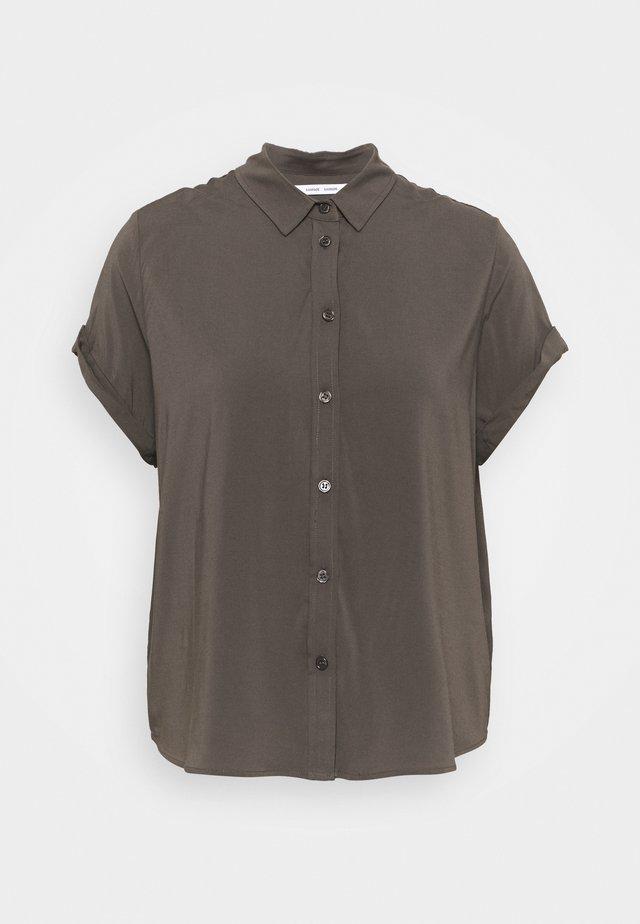 MAJAN - Button-down blouse - black olive