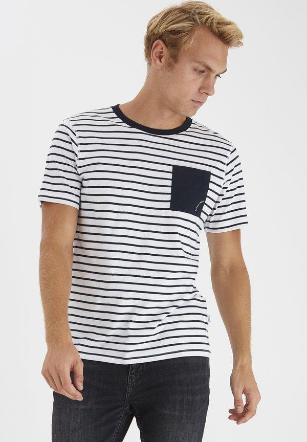 Casual Friday T-shirt z nadrukiem - bright white/mleczny Odzież Męska DHCG