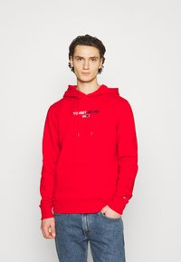 Tommy Jeans - LINEAR LOGO HOODIE UNISEX - Sweat à capuche - red - 0