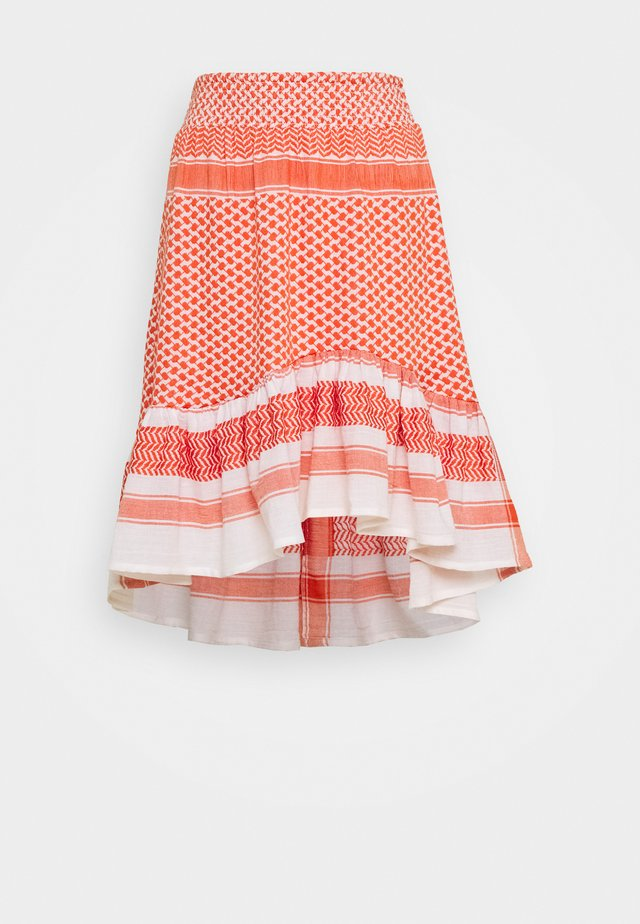 STINNE - A-snit nederdel/ A-formede nederdele - coral