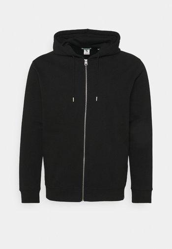 HOODIE WITH ZIPPER - Zip-up sweatshirt - black
