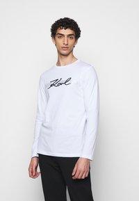 KARL LAGERFELD - CREWNECK - Long sleeved top - white - 0