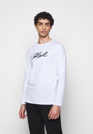CREWNECK - Langærmede T-shirts - white