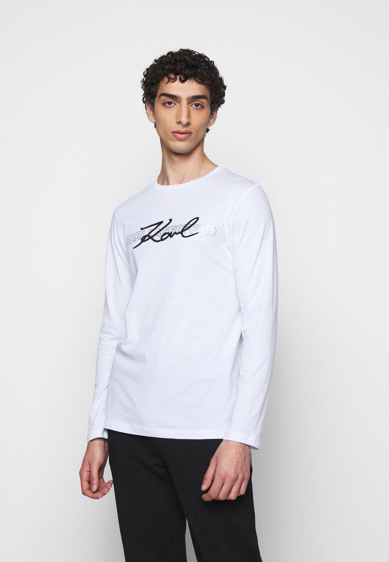 KARL LAGERFELD - CREWNECK - Long sleeved top - white