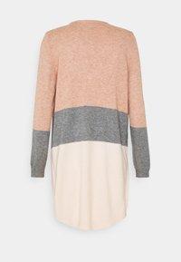 ONLY Tall - ONLQUEEN LONG CARDIGAN  - Kardigan - misty rose/medium grey melange/cloud pink melange - 1