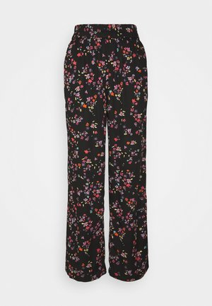 PCLALA WIDE PANTS - Bukse - black