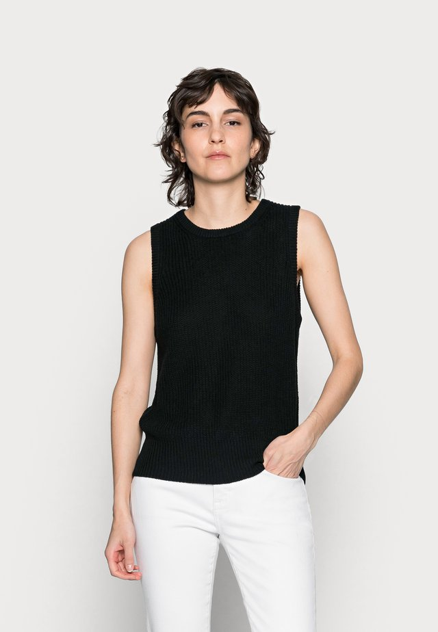 DISA WAISTCOAT - Jersey de punto - black