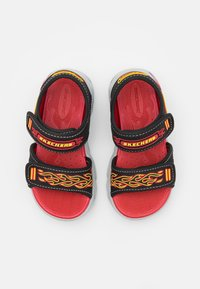 Skechers - THERMO-SPLASH - Sandals - black/red/yellow - 3