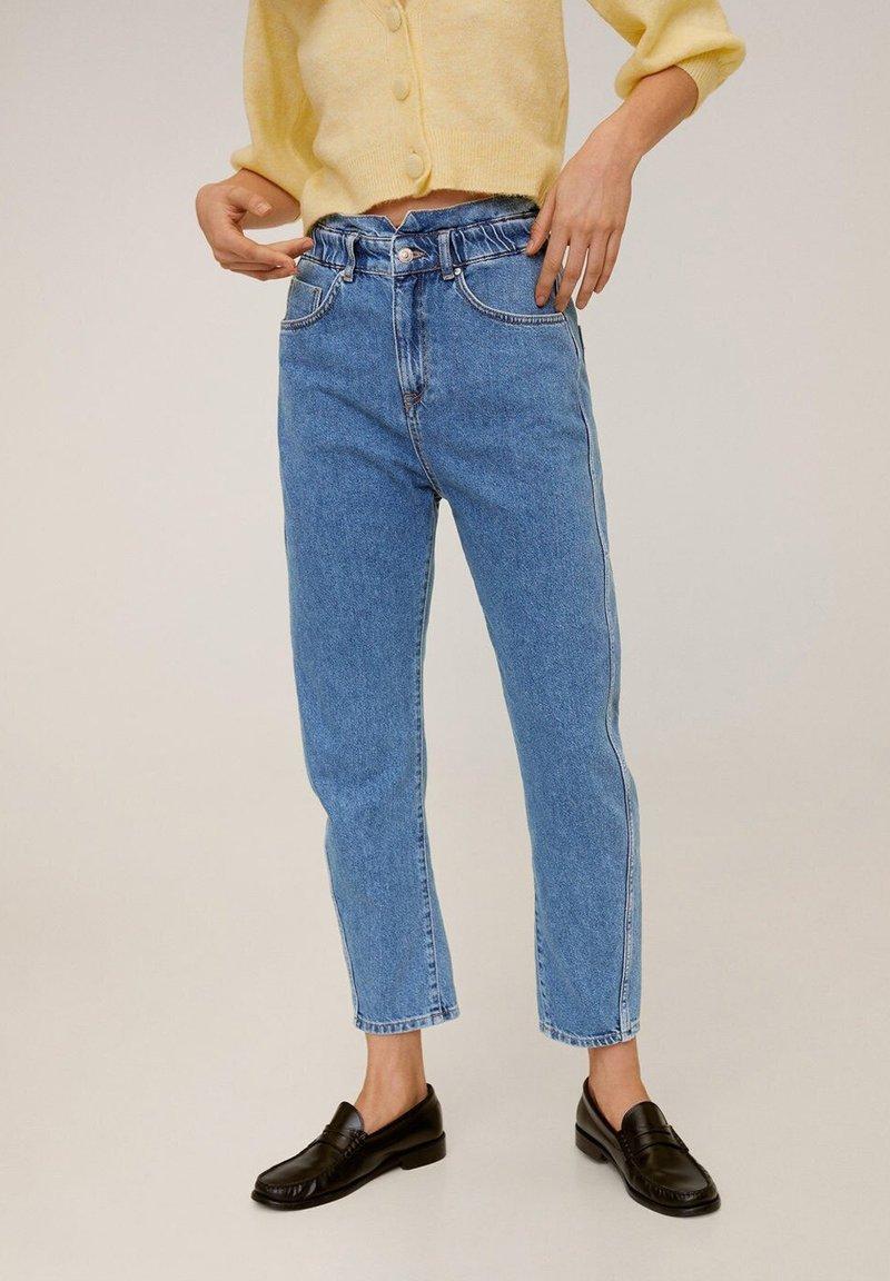 Mango - SLOUCHY - Straight leg jeans - blue