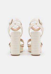 Guess - RIPPA - Platform sandals - cream - 3
