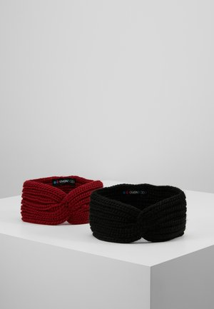 2 PACK - Ear warmers - black/red