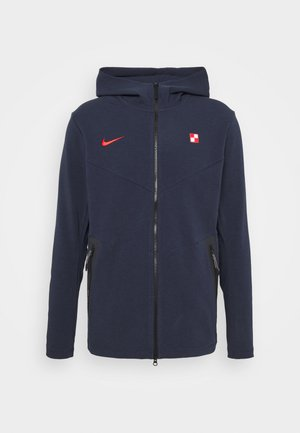 KROATIEN KRO HOODIE  - National team wear - obsidian/light crimson