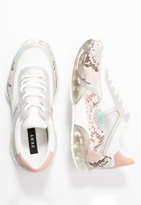 DKNY - BLAKE  - Matalavartiset tennarit - white/blush/multicolor - 3