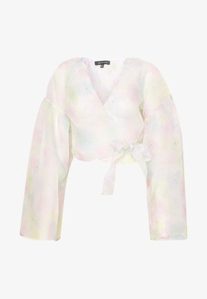 THE WIDE SLEEVE WRAP - Blouse - off white