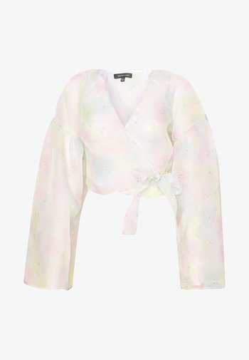 THE WIDE SLEEVE WRAP - Bluser - off white