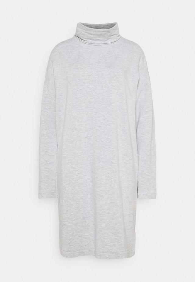 COWL NECK DRESS  - Day dress - heather grey