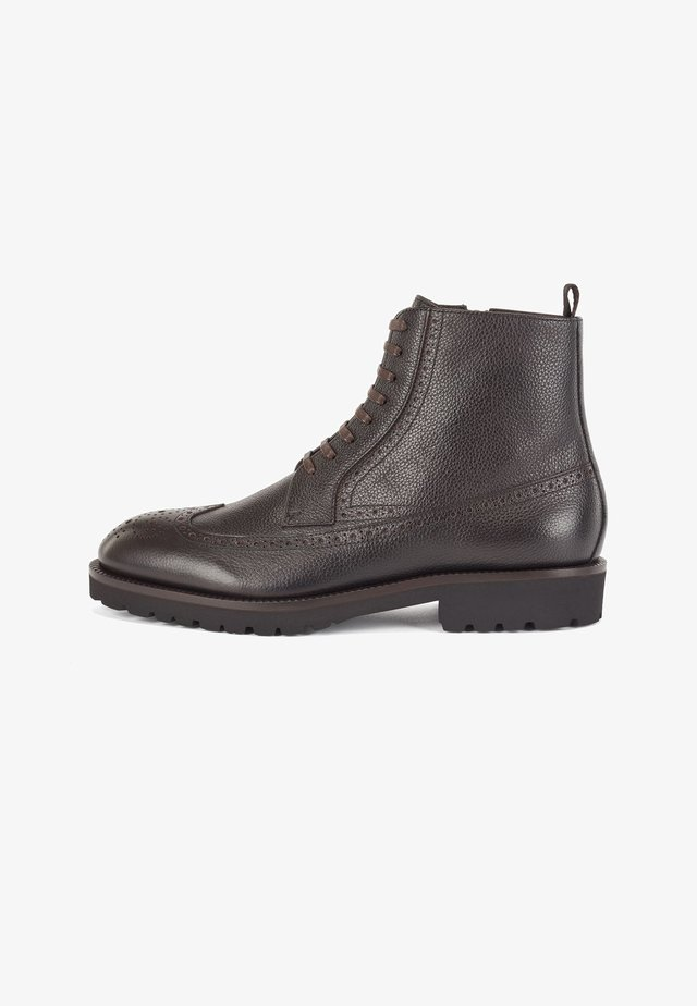 EDENLUG_HALB - Lace-up ankle boots - dark brown