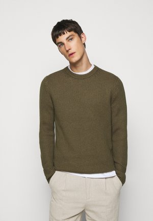 REMUS STRUCTURED  - Strickpullover - moss green
