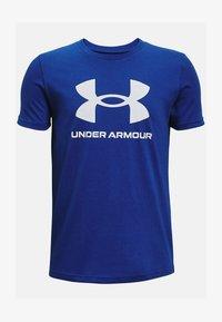 Under Armour - Print T-shirt - royal - 0