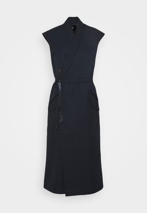 WRAP BELTED DRESS - Day dress - naval blue